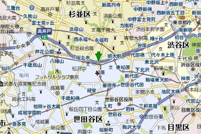杉並 世田谷 フラダンススタジオ レンタルスタジオ マップ 地図